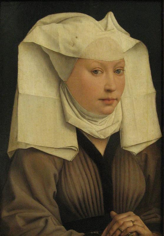 Rogier van der Weyden3/90 Portrait of a Young Woman in a Pinned Hat (1435)