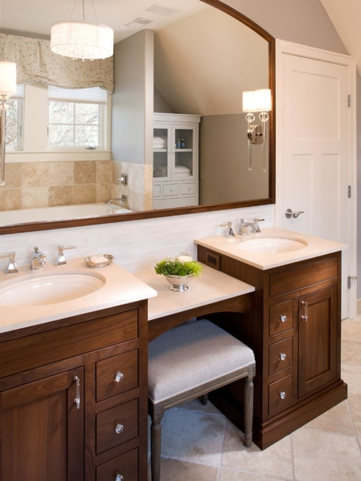 Dual Vanity With Makeup Counter Home Design Ideas Pictures   Bathroom Vanity  With Makeup Area U2013 Home Decorating Ideas U0026 Interior Design
