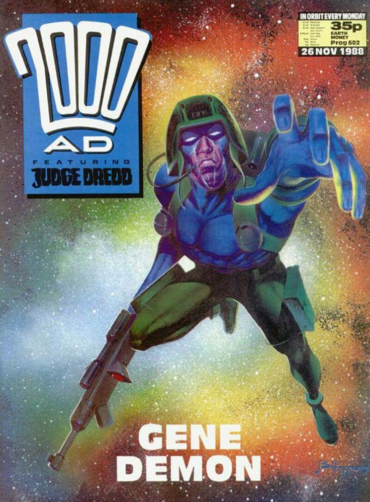 CLASSIC COVER: Rogue Trooper by John Higgins for 2000 AD Prog 602 (26th November, 1988)