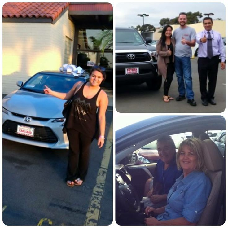 Happy customers and their new vehicles! We are so glad to help you find the car of your dreams! #Toyota #Carlsbad