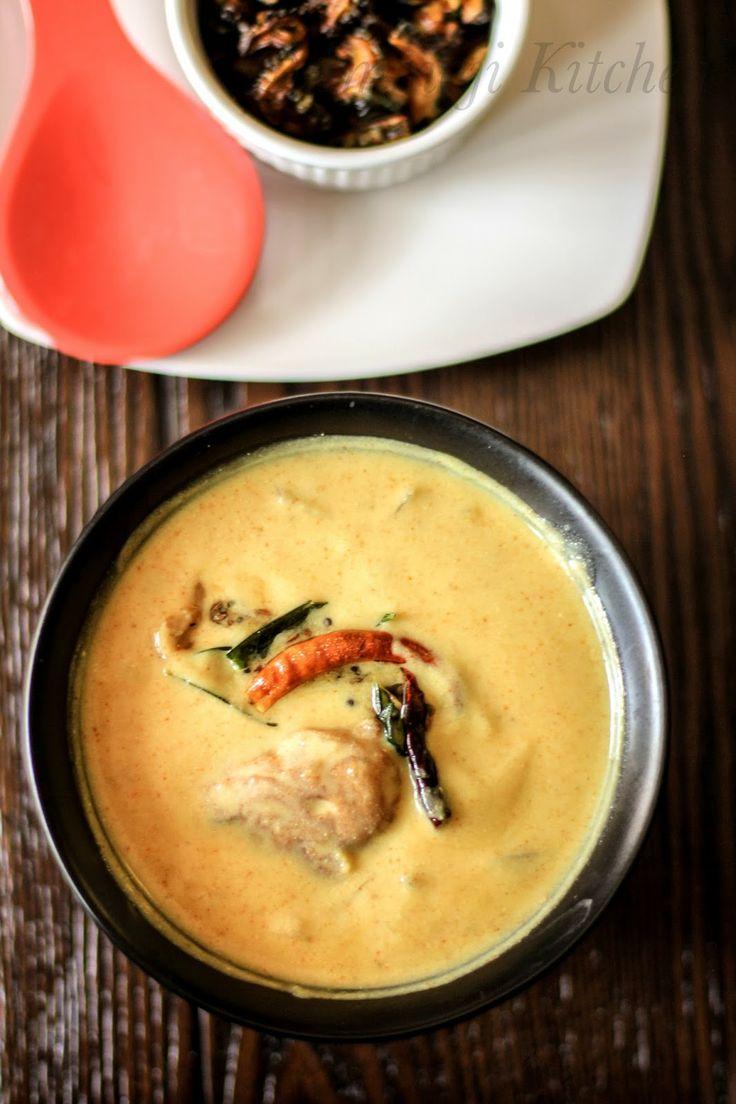 Kadhi Bari (Fried dumplings in flavored, thick buttermilk) - Bihari cuisine.