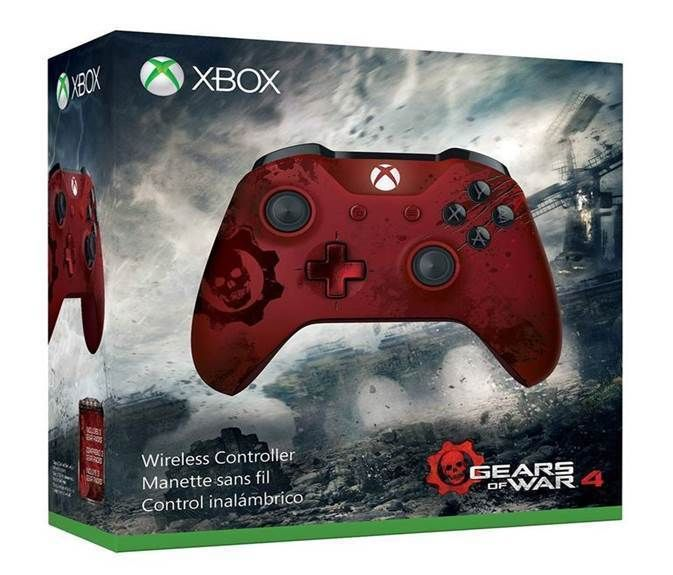 Xbox Wireless Controller - Gears of War 4 Crimson Omen Limited Edition…