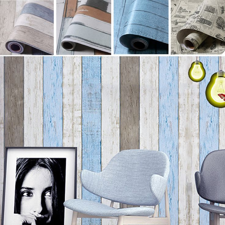 yazi 60x300CM Roll Retro Wallpaper PVC Vinyl Self-Adhesive Wallpapers Mural Mediterranean Style Wall Sticker Home Decor