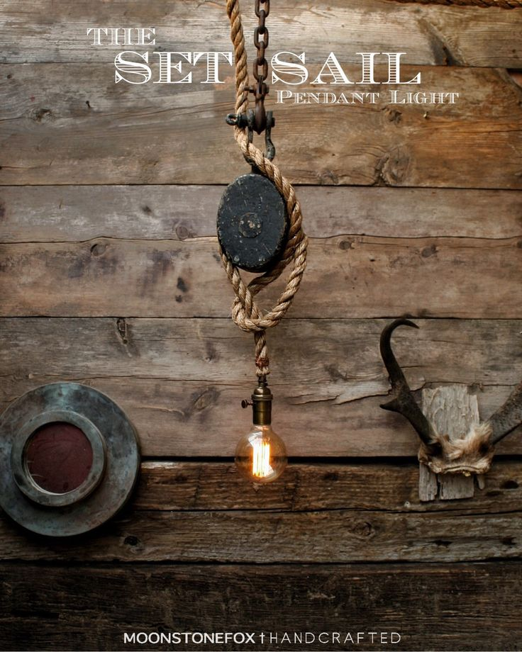 The Rustic Sailor Pulley Pendant Light Wooden Pulley By: Best 25+ Manila Rope Ideas On Pinterest
