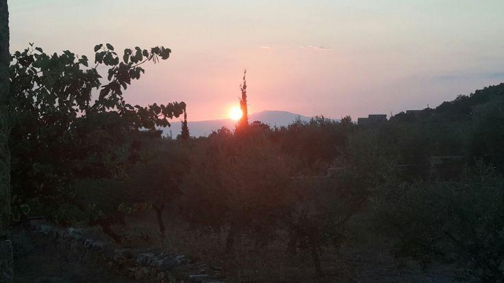 Ηλιοβασίλεμα Άνω Ρήγκλια