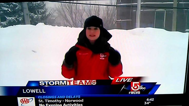 """""""Slutty Snow"""" Big Oops on Channel 5 News tonight - I'm sure people have lots of adjectives for this snow."""