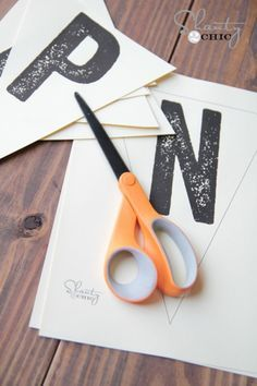 Free printable letter banners.  All letters of the alphabet  to cut out to make banners.