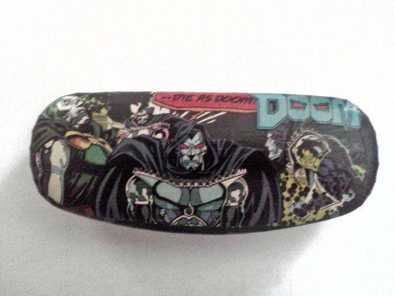 Custom Dr Doom Eyeglasses Case Hard Clam Shell By