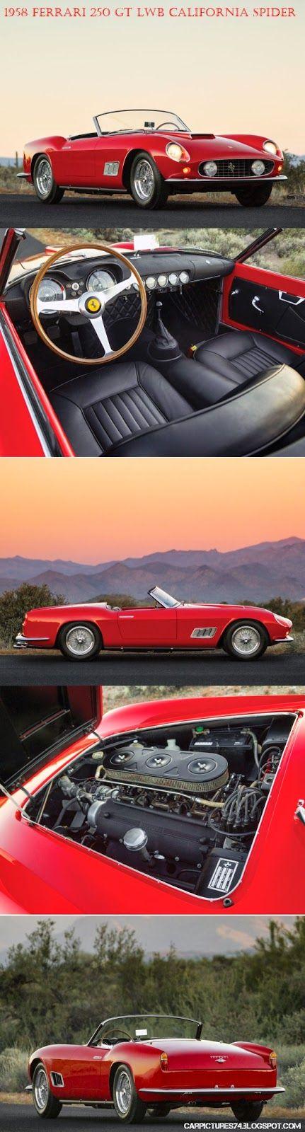 Car Pictures: 1958 Ferrari 250 GT LWB California Spider by Scaglietti. Visit: http://carpictures74.blogspot.com/
