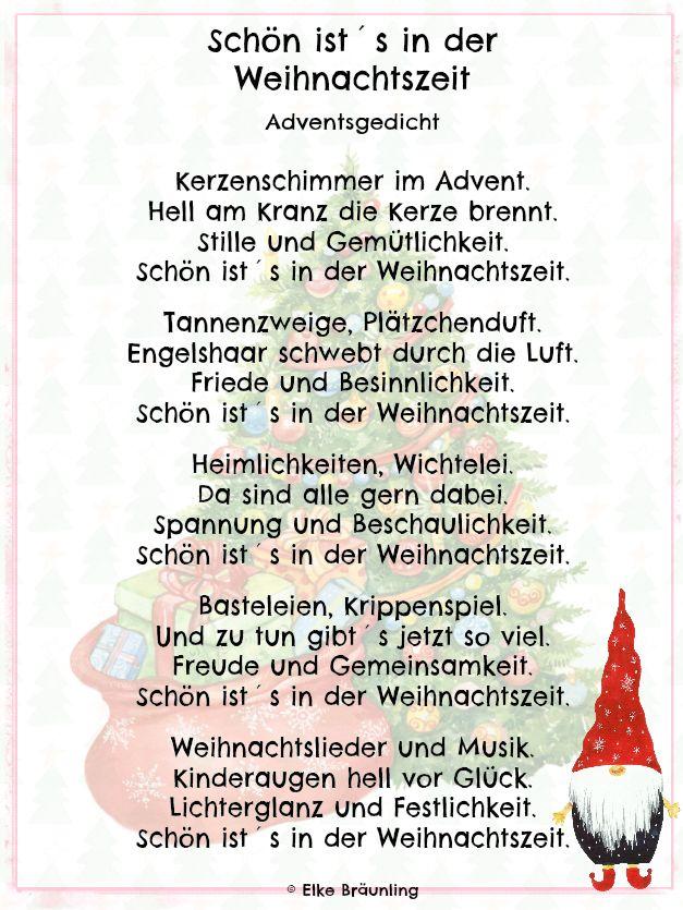Schön ist´s in der Weihnachtszeit Kerzenschimmer im Advent. Hell am ...