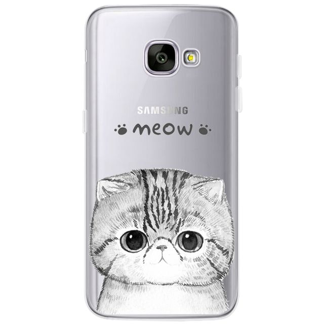 Cover For Samsung Galaxy S3 S4 S5 S6 S7 Edge S8 Plus A3 A5 2016 2015 2017 prime J1 J2 J3 J5 J7 Case TPU Silicon Cover Cat