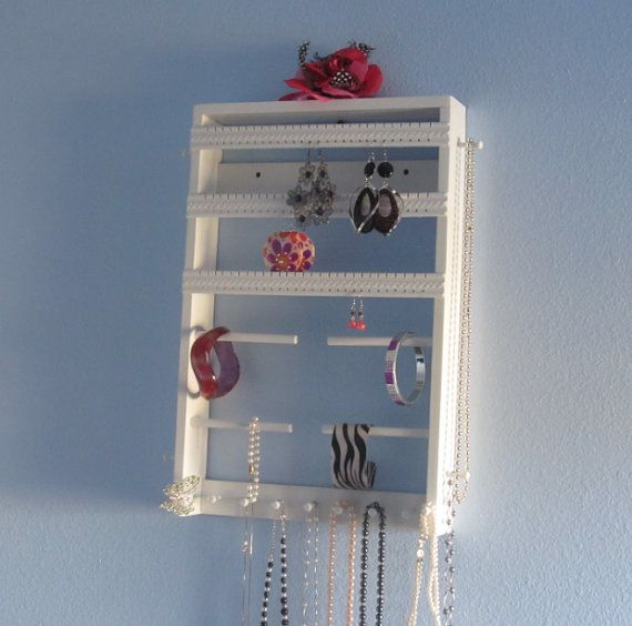 Jewelry Organizer on Etsy. NEED IT! Maybe DIY-idea?