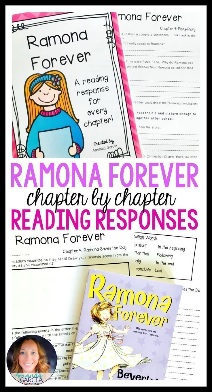 Students love Ramona Quimby novel studies! These activities take your readers through each chapter of Ramona Forever! The reading responses are aligned to the Common Core, fun, rigorous, and easy to implement in your elementary classroom! Use them small group, whole group, with reader's notebooks, and in literature circles.