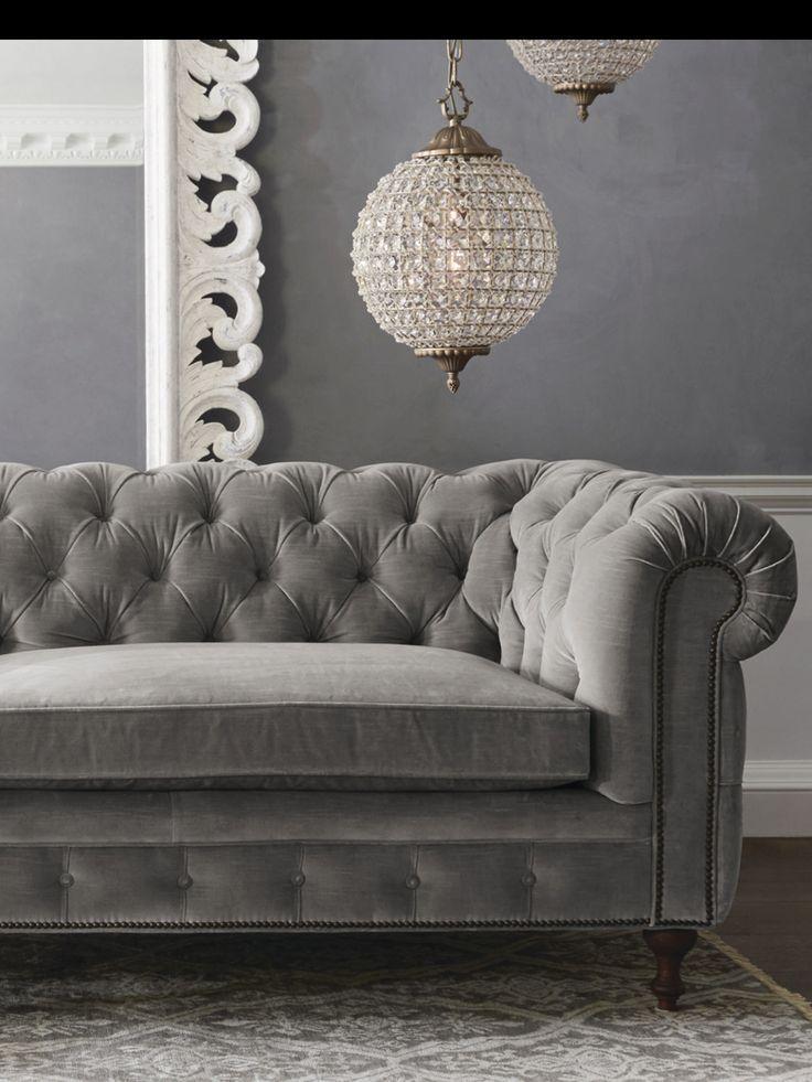 Die Besten 25+ Grey Tufted Sofa Ideen Auf Pinterest | Elegantes