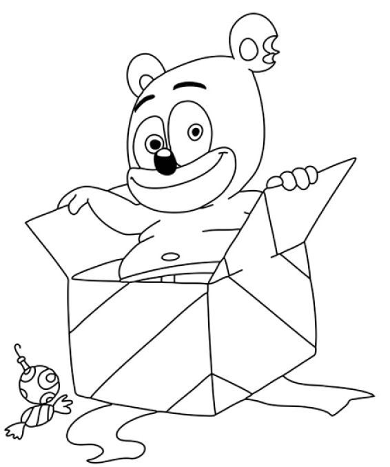 Gummy Bear Coloring Page Bear Coloring Pages Gummy Bears