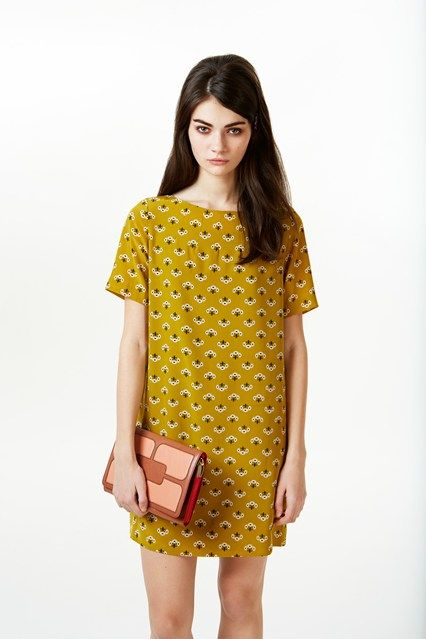 Orla Kiely - love the dress, the model could do with a good dinner and a bit of…