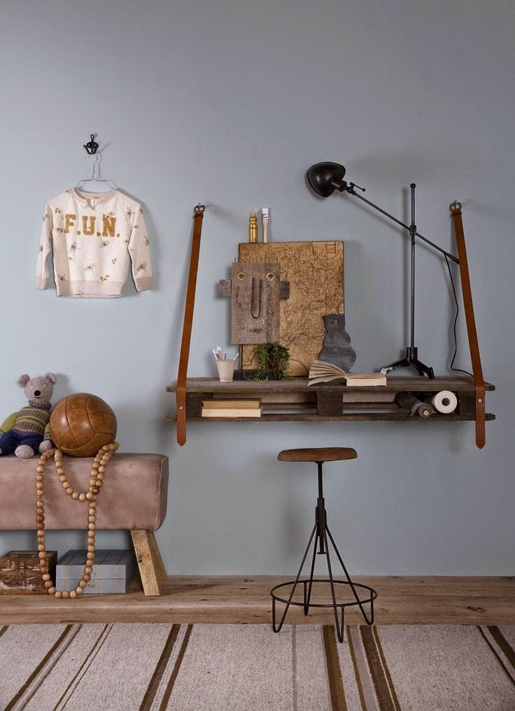 A quirky and cool kids room and desk space