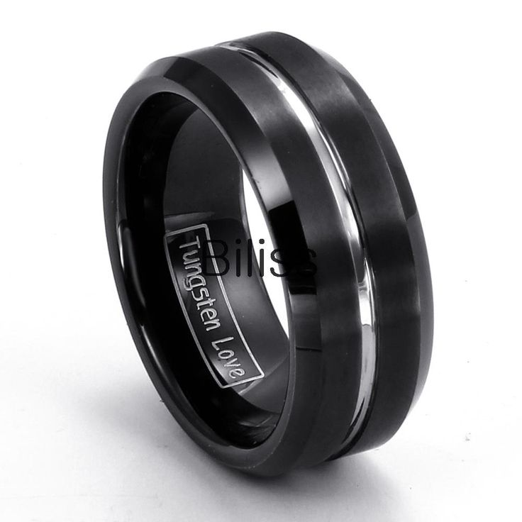 Popular Mens Black Wedding Bands Buy Cheap