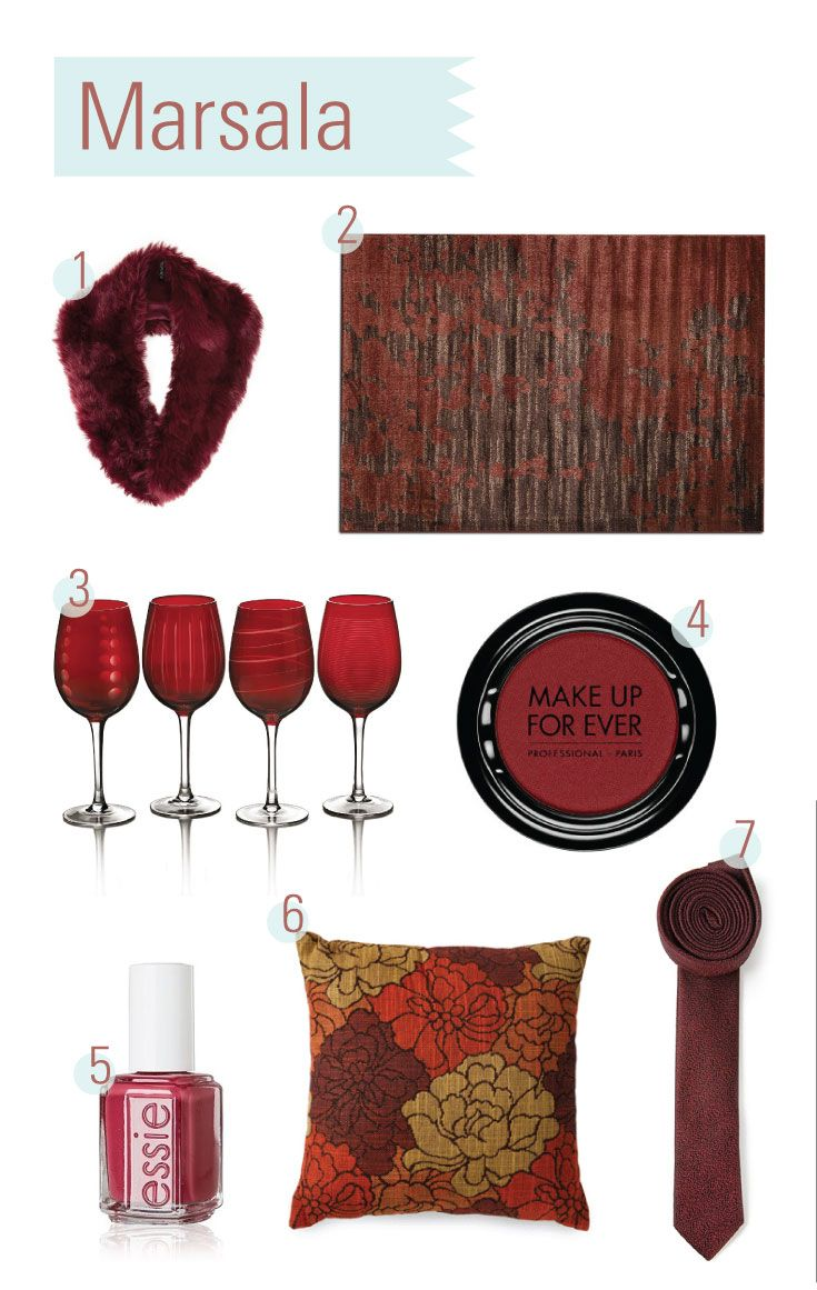 64 best Marsala- Color of the Year 2015 images on Pinterest ...