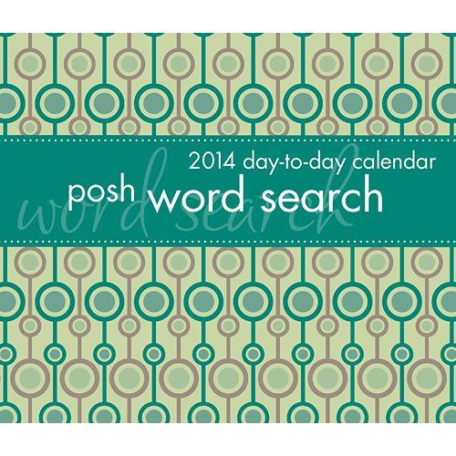 The Posh Word Search 2014 Day-to-Day Calendar is a stylish calendar that offers a different theme on every page. The words in the puzzle can be vertical, diagonal, horizontal, and even backward. A quick eye is essential to solving these puzzles as you may find a few overlaps between words. http://www.calendars.com/Brainteaser-Gifts-for-Mom/Posh-Word-Search-2014-Desk-Calendar/prod201400002990/?categoryId=cat1740028&seoCatId=cat1740028