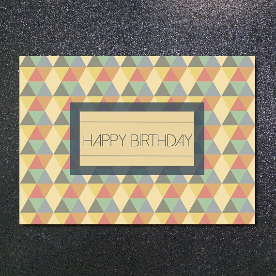 Printable Happy Birthday card 5x7