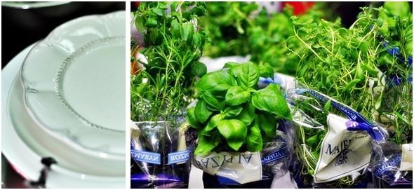 Uczestniczki warsztatów miały do dyspozycji pełną gamę świeżych ziół do dekoracji swoich dań. / photo: http://kulinarnapiniata.pl