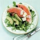 Salade Van Watermeloen,avocado En Zachte Geitenkaas recept | Smulweb.nl