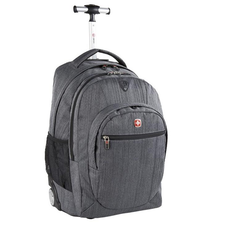 Grey Backpack on Wheels by Swiss Gear