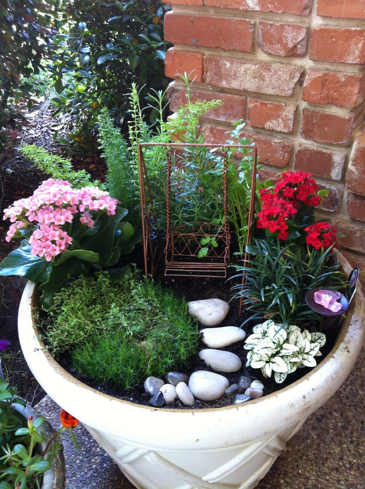 111 best fantasy gardens fairy container gardens images for How to make a fairy garden container