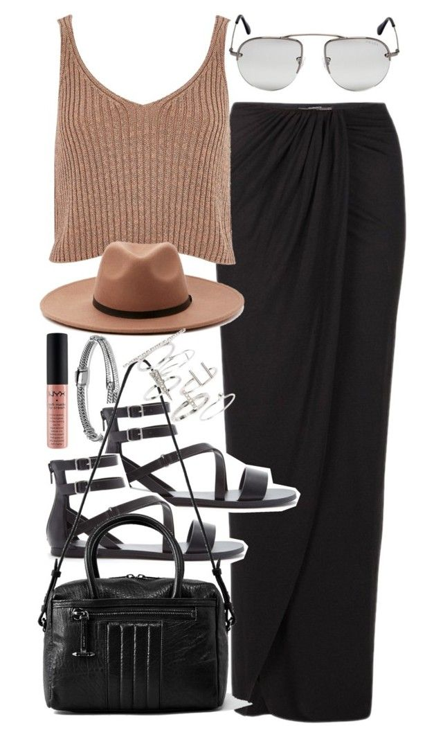 """Outfit for summer with a black maxi skirt"" by ferned ❤ liked on Polyvore featuring David Yurman, AllSaints, Forever 21, River Island, Prada, Topshop, NYX, women's clothing, women and female"