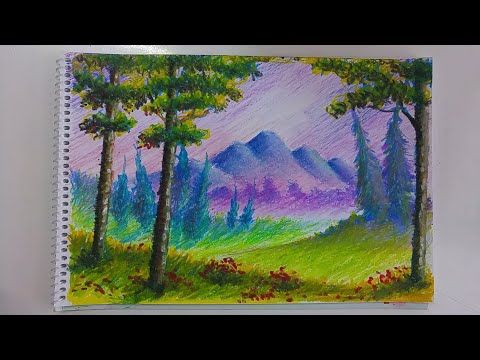 Pastel Boya Manzara Renk Perspektifi Sicak Soguk Iliskisi Youtube Gorsel Sanatlar Resim Sanat
