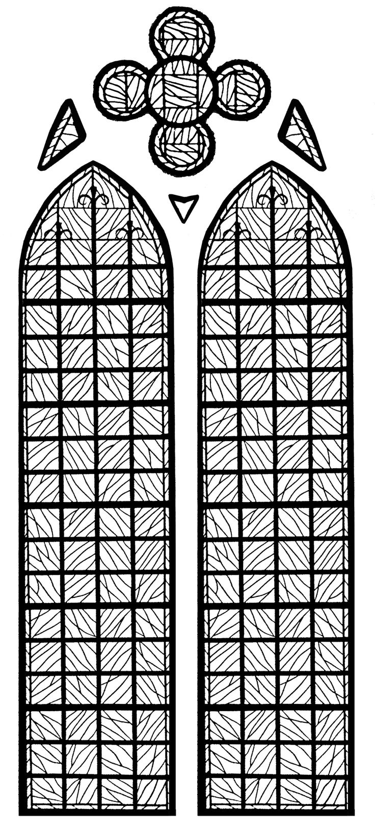 Free coloring page coloringadultstainedglasschapelle