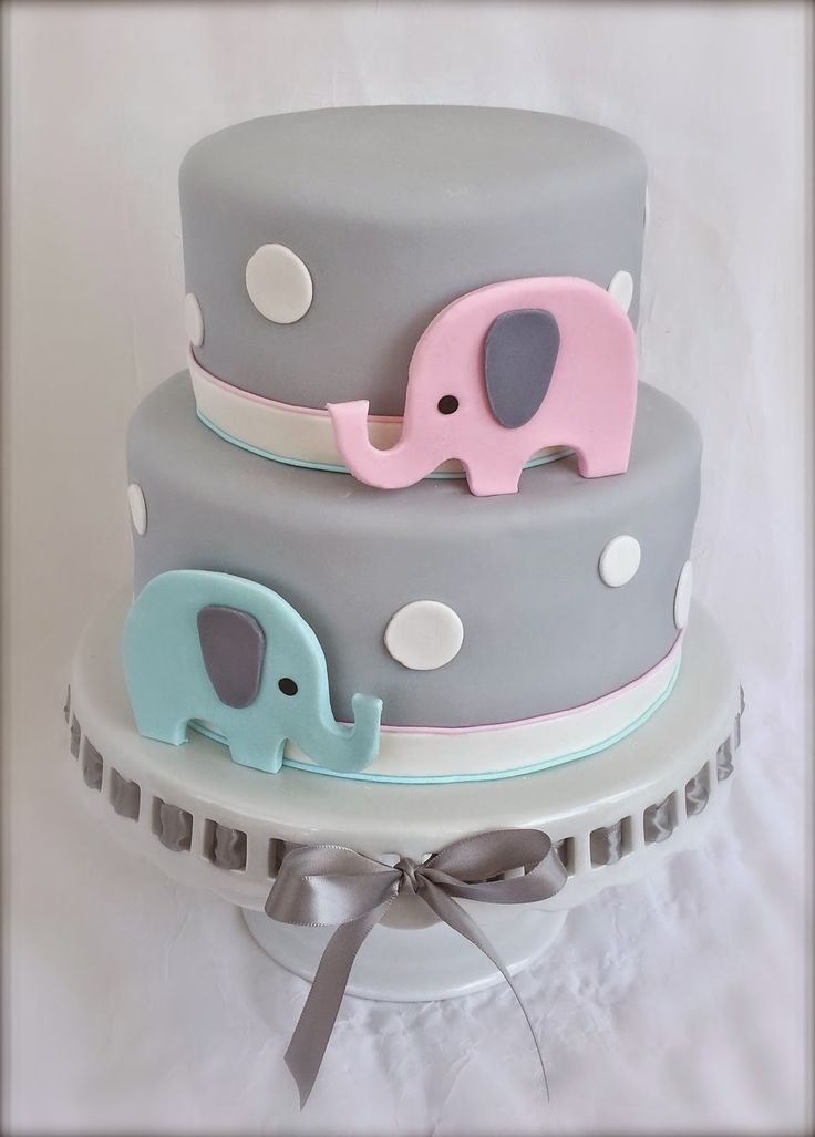 Lovely Elephant Baby Cake More