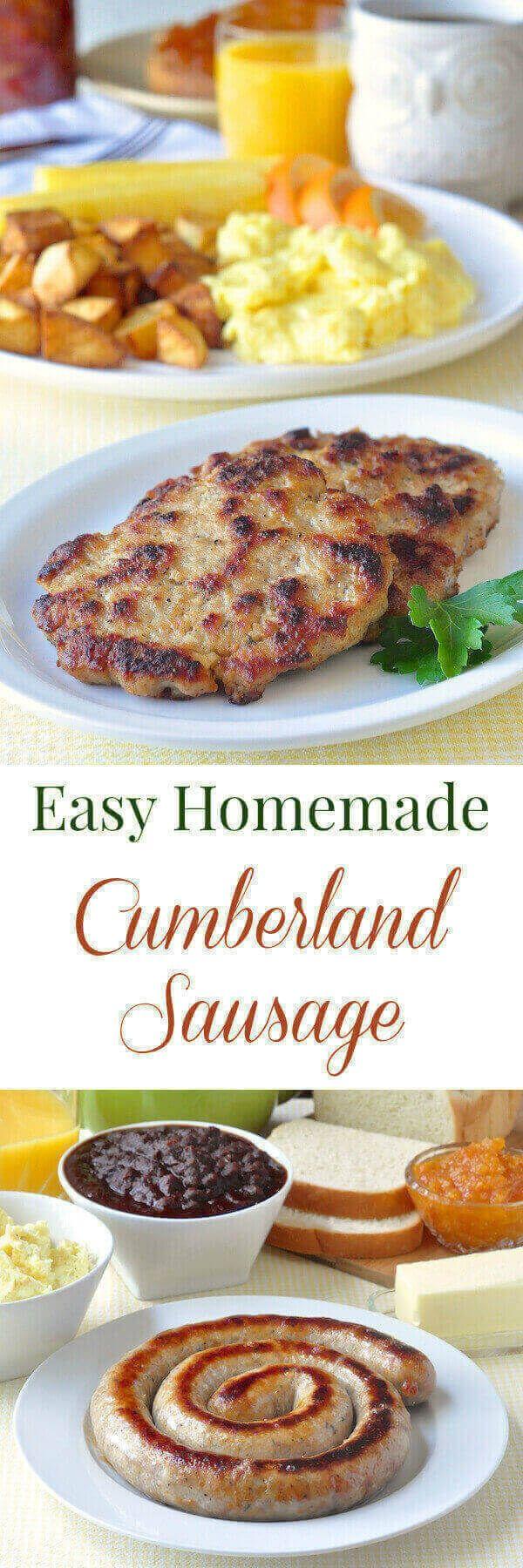 Cumberland Sausage Cumberland Sausagescottish Cuisinesausage Casingmaking