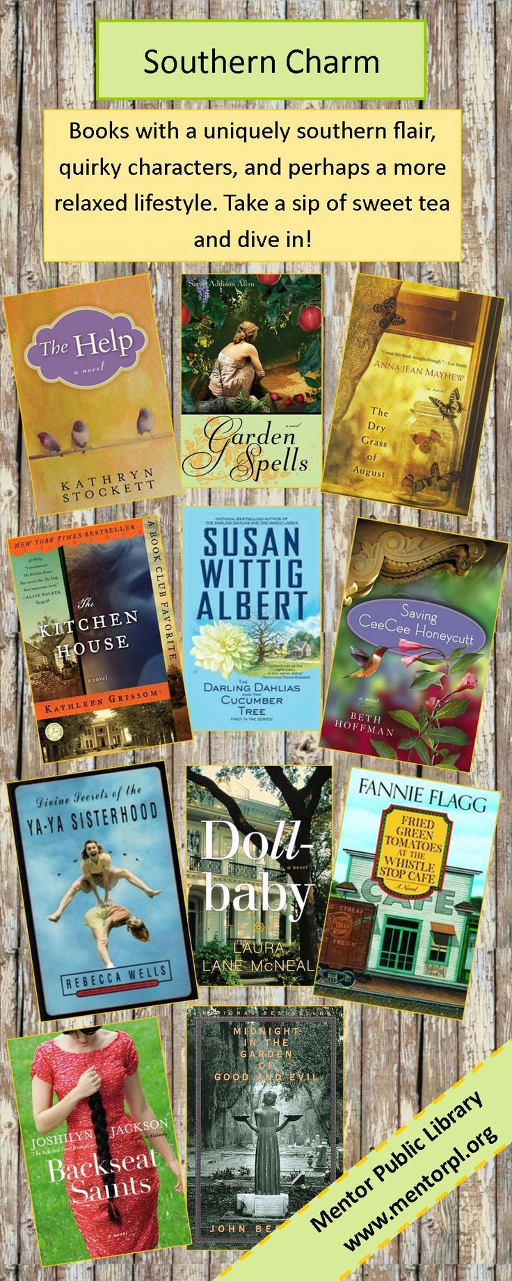 Looking for some quirky southern fiction with a shot of drama? Try this southern charm reading list! Follow the link to find more suggestions and novels with northern settings!