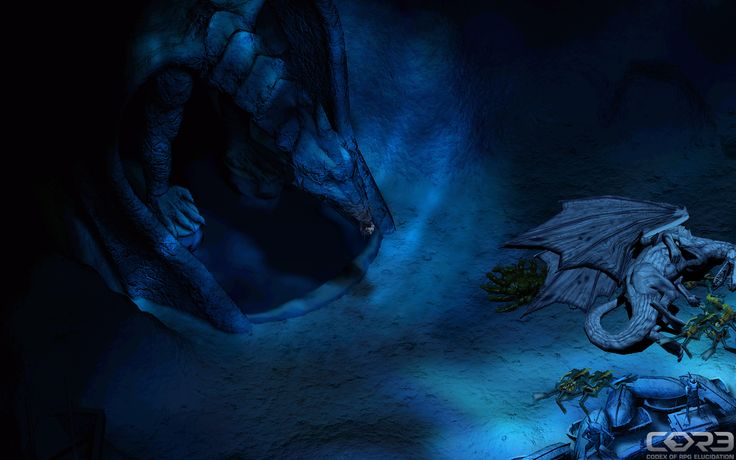 """""""To face the fear I once believed the tears of the dragon for you and for me"""" / Icewind Dale Screenshot"""