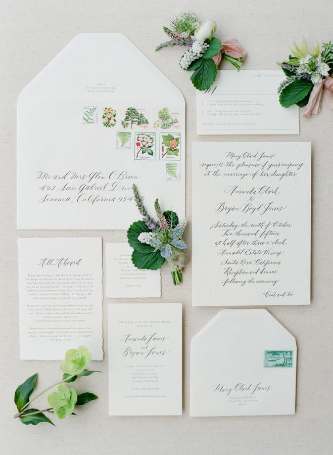 wedding invitation mint green%0A Ethereal organic wedding invitation paper suite   http   www stylemepretty com