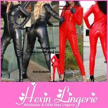 Wholesale Newest cheap zipper sexy pvc leather catsuits