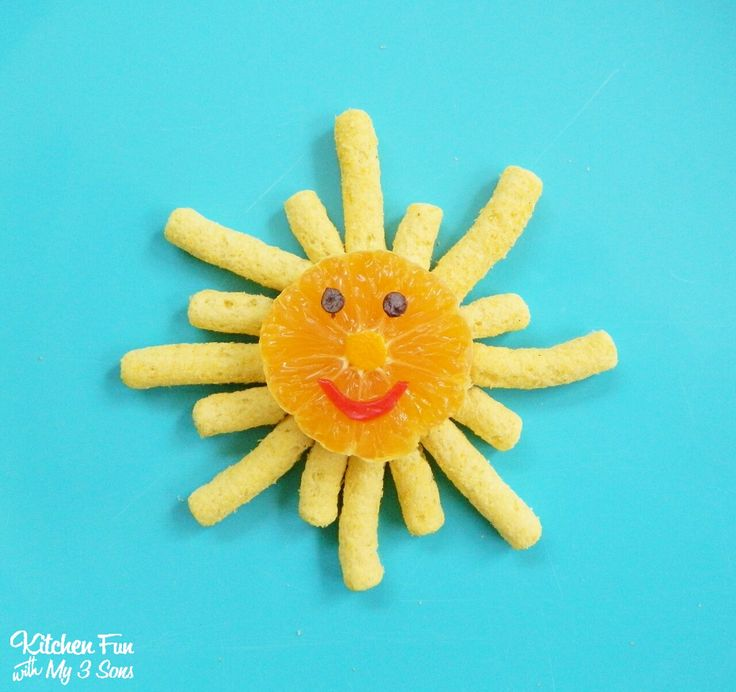 Sunshine Snack for toddlers from KitchenFunWithMy3Sons.com