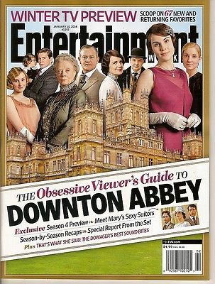 Entertainment Weekly,Downton abbey,Viewer's Guide,Dockery,Stevens,Jan 2014~NEW