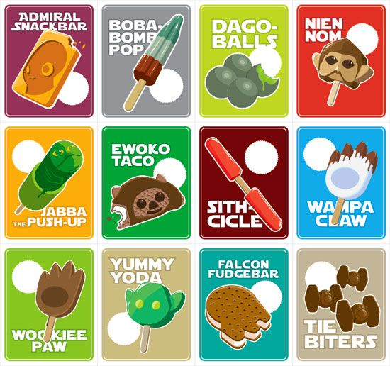 ThinkGeek's Star Wars ice cream truck stickers (2011 April Fools)