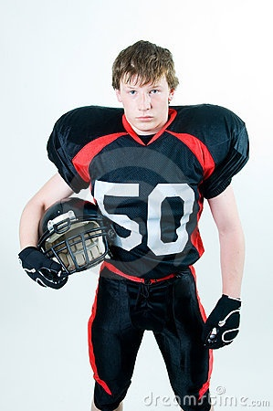football pose
