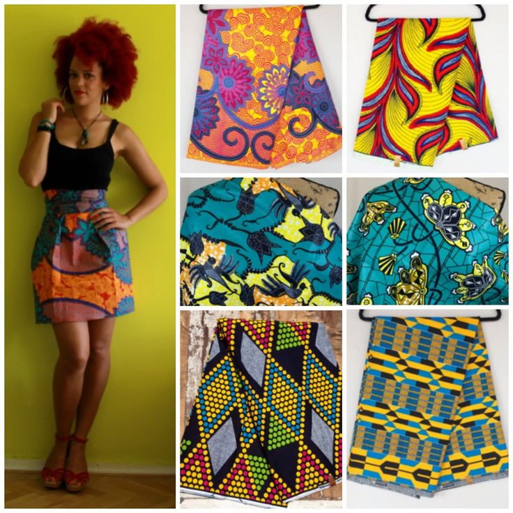 African print fabrics to create a DIY skirt. Check the sewing tutorial for this skirt here       Garden flower African Print fabric   ...