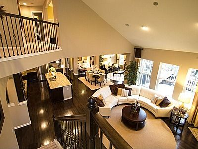 Circular couch. Eden - Long Ridge & Bellewood Estates by Pulte Homes