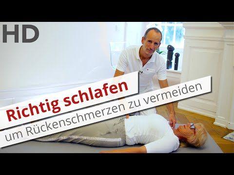 Richtig schlafen gegen Rückenschmerzen // unterer Rücken, Lordose, Brustwirbelsäule - YouTube