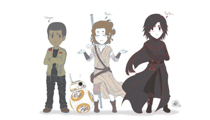 Rivals. (Star Wars Episode VII Chibi Characters) By: Less.