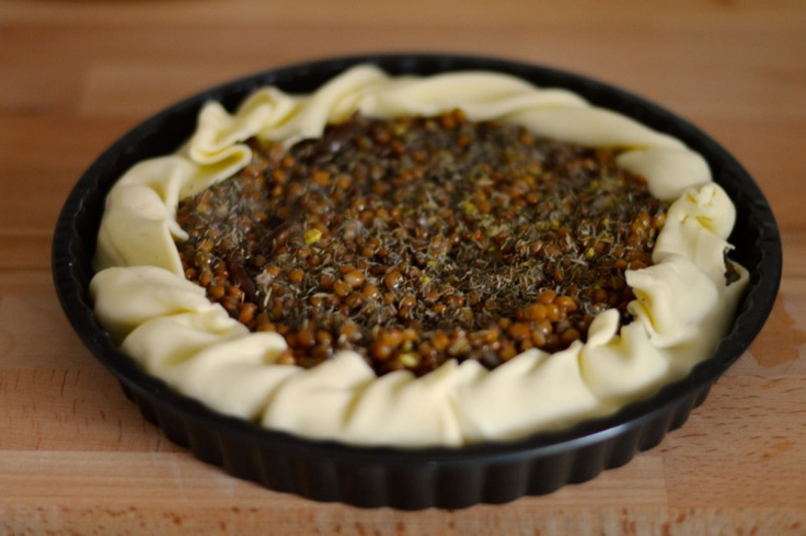 easy vegetarian lentils quiche recipe   Food...yums   Pinterest