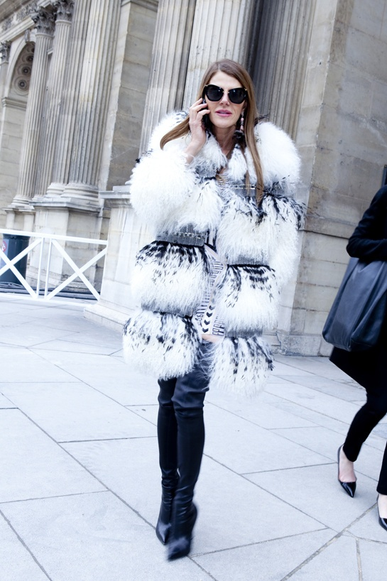 Climate influences this outfit of choice as you can tell. It is created using thick furs and is also paired with boots showing that the weather had a at in what to wear. This type of outfit would be worn in the winter.
