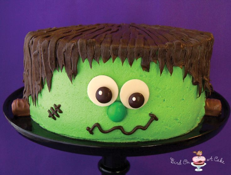 neat idea for halloween next month from bird on a cake frankensteins monster cake - Easy Halloween Cake Decorating Ideas