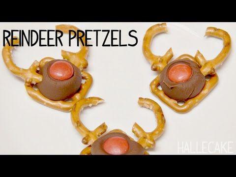 How To Make Reindeer Pretzel Candy - Hallecake